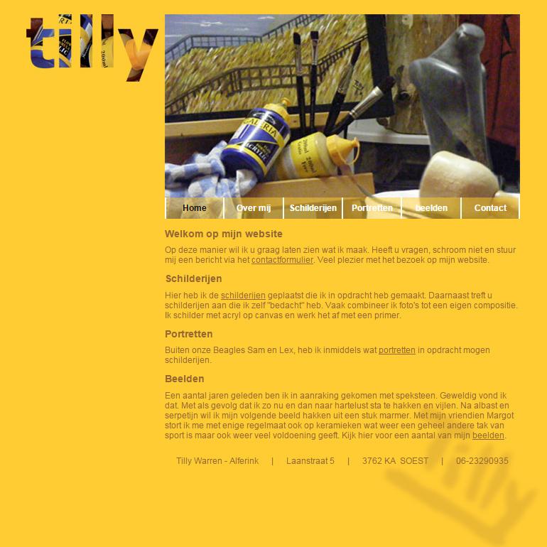 Portfolio| website Tilly