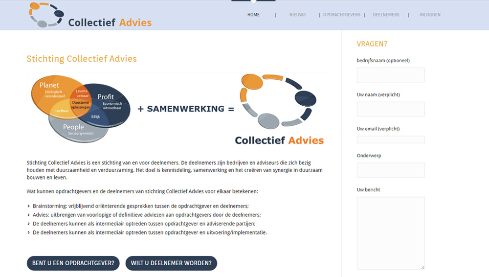 Website Collectief Advies