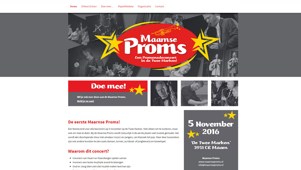 Website Maarnse Proms 2016