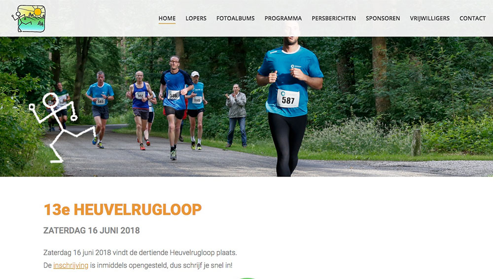 TTF website heuvelrugloop